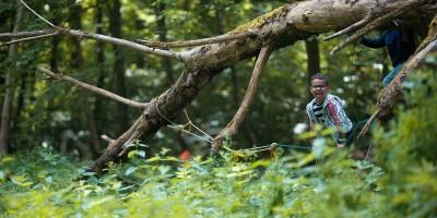 """Juf Joke besloot haar droom te realiseren: een bosklasje. """"Ongelooflijk hoe zelfstandig en creatief de kinderen worden"""""""